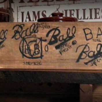 Mason Jar Trademark, Ball Trademark, Ball Trademarks Hand Painted Wood Sign,