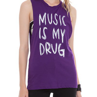 Music Is My Drug Muscle Girls Top