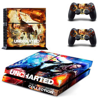 Uncharted decal for ps4 console skin sticker