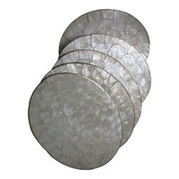 Pre-owned Capiz Shell Place Mats - Set of 5
