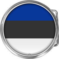 Estonia Flag Belt Buckle