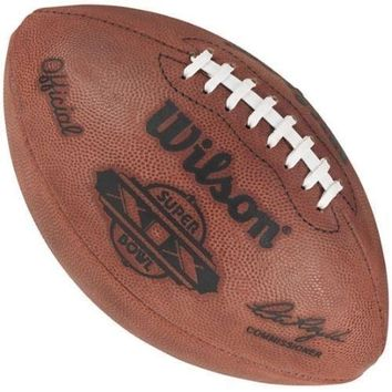 WILSON OFFICIAL SUPER BOWL 19 XIX LEATHER GAME FOOTBALL 49ers DOLPHINS STAMPED