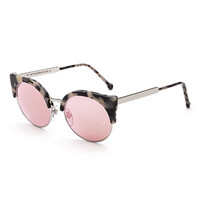 Super by Retrosuperfuture Ilaria Gel Mirrored Sunglasses, Cream Havana