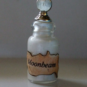 Witch Wizard Gothic MoonBeam dollhouse miniature Spell bottle halloween