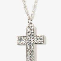 Rhinestoned Cross Necklace