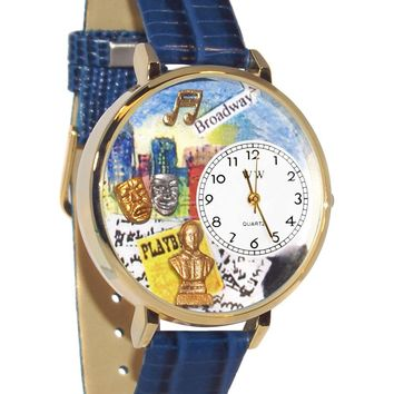 Drama Theater Royal Blue Leather And Goldtone Watch