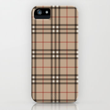 Burberry plaid Designer pattern iPhone & iPod Case by All Is One