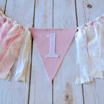 Winter Onderland Pink Girl Banner - 1st Birthday banner - Pink Onderland Birthday - Onderland birthday party - felt banner - girl birthday