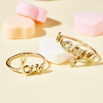 Free People Talk Back Ring Set