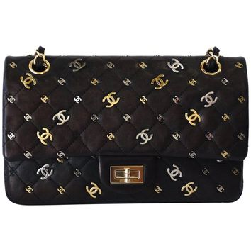 2007 Chanel CC Punk 2.55 Reissue 225 Flap Handbag