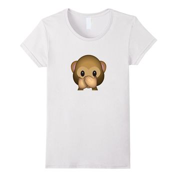 Speak No Evil Monkey Face Emoticon Emoji T-shirt