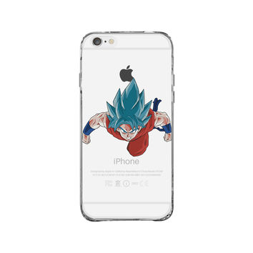 Dragon Ball Super God Saiyan Goku Resurrection iPhone 6 Clear Case
