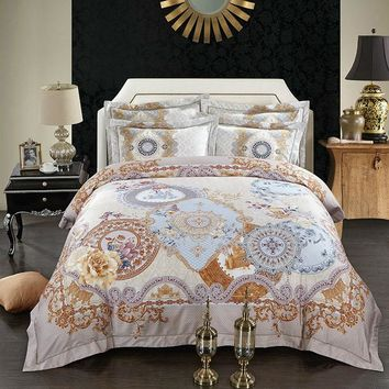 Mandala Bedding Set Egyptian Bedspread Bohemian Duvet Cover Bedlinen Queen King Size 4PCS