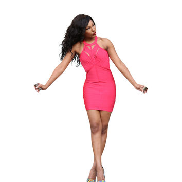 The Luxe Mode Junior's Evelyn Red Bodycon Dress