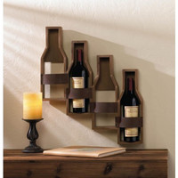 Rustic Winery Wall Wine Rack