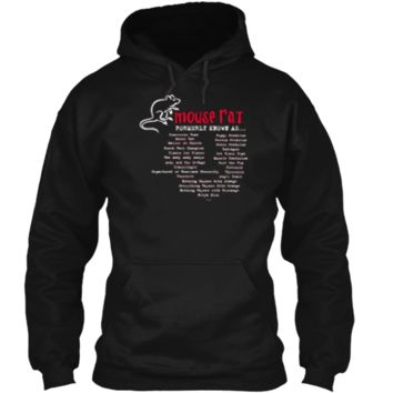 Parks and Recreation Mouse Rat Formerly Known As T-Shirt Pullover Hoodie 8 oz