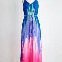 ModCloth Boho Long Sleeveless Maxi Along Those Shorelines Dress