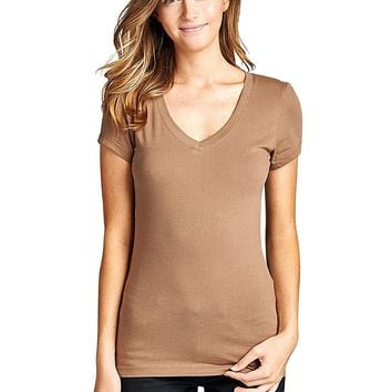 Stretchy short sleeves top