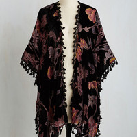 Boho Long Short Sleeves Vineyard Vibes Jacket by ModCloth