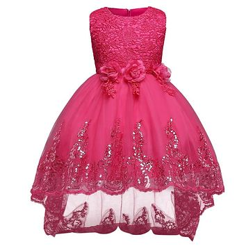 Aini BabePrincess Girl Dress Brand 2018 Girls Clothes Ceremonies Party Dresses For Girls Formal Evening Kids Party Wear Dress