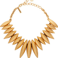 Oscar de la Renta - Gold-plated necklace