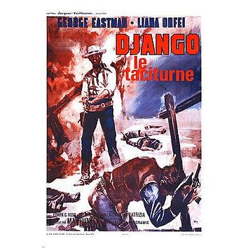 FRENCH DJANGO kills softly MOVIE poster SPAGHETTI western EASTMAN 24X36
