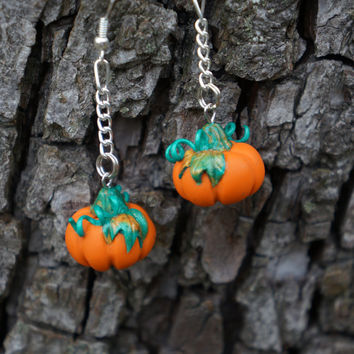 Pumpkins Earrings. The best for Halloween. Polymer clay jewelry.