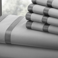 1000 Thread Count Egyptian Cotton Sheet Set (Silver/Graphite) King