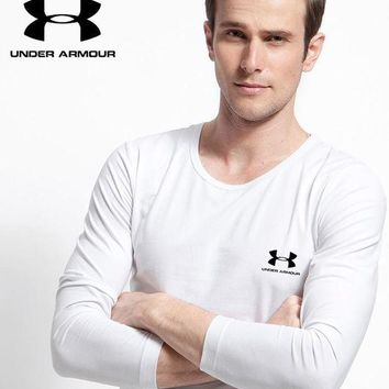 PEAP2Q new under armour mens long sleeve hoodie 100 cotton top