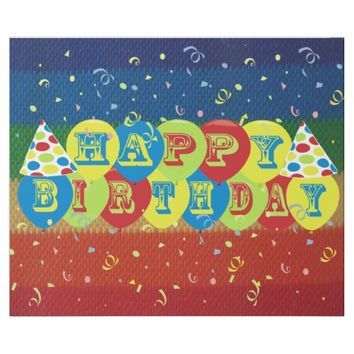 Happy Birthday Confetti Balloons Wrapping Paper