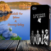 5 Second Of Summers Poster - Print on hard plastic for iPhone case. Please choose the option.