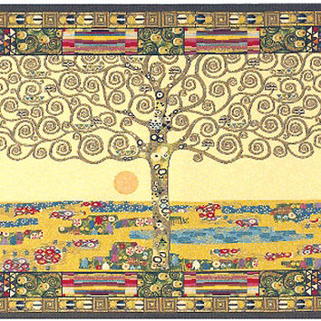 Tree of Life by Klimt I Tapestry Wall Art Hanging