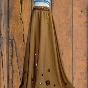 Long skirt  Caramel by saravah on Etsy
