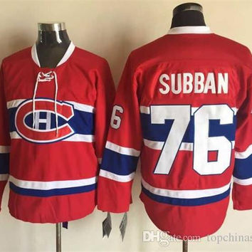 Montreal Hockey Jerseys Canadiens #76 P.K. Subban Red jersey New Design Ice Hockey Jerseys Brand Men's Jerseys Cheap Hockey Wear with Lace