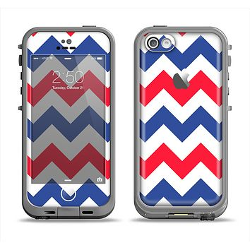 The Patriotic Chevron Pattern Apple iPhone 5c LifeProof Fre Case Skin Set
