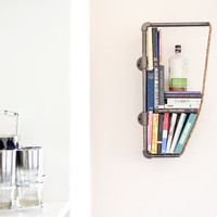 Industrial Pipe and Rope Shelf