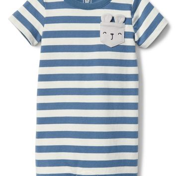 Organic Bunny Shorty One-Piece|gap