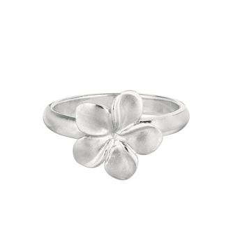 Ring, 12mm sandblast champac flower.
