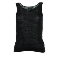 Lauren Ralph Lauren Womens Petites Shimmer Sleeveless Knit Top