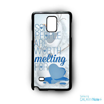 Some People Are Worth Melting For Olaf Funny Quote for Samsung Galaxy Note 2/Note 3/Note 4/Note 5/Note Edge phone case