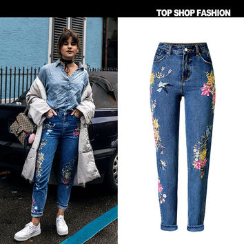 High Waist Women's Fashion Heavy Work Slim Jeans [10734935311]