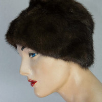 Vintage 1950's Mink Fur Hat Pin-up