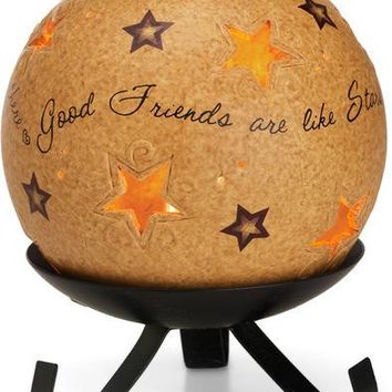 Good friends are like stars Candle Holder