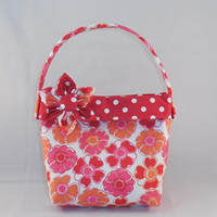 Lovely Red and Orange Floral Little Girls' Purse
