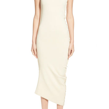 Donna Karan New York Sculpted Crepe Asymmetrical Dress