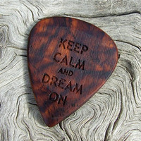 Tribute to Aerosmith - Handmade Laser Engraved Cocobolo Wood Guitar Pick - 2-Sided Design