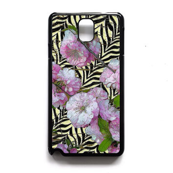 Funky Zebra & Prunus Samsung Case, iPhone 4s 5s 5c 6s Plus Cases, iPod 4 5 6 case, HTC One case, Sony Xperia case, LG case, Nexus case, iPad case