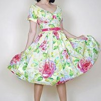 Victoria Blush Cabbage Rose Dress (ONLY 3 Left!)