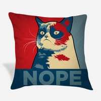 Grumpy Cat Nope Pillow Case