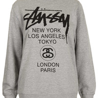 World Tour Sweat By Stussy - Tops - Clothing - Topshop USA
